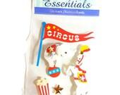 Circus, Elephant, Show Horse, Popcorn Scrapbooking Stickers - Sandy Lion Essentials