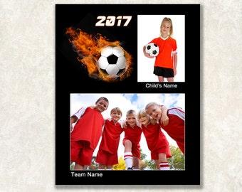 Soccer Memory Mate Template, Sports Mate, 8x10, Instant Download, Futbol