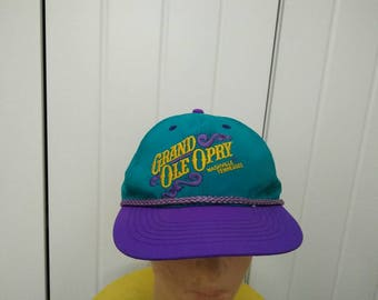 Rare Vintage GRAND OLE OPRY Nashville Tennessee Cap Hat Free size fit all