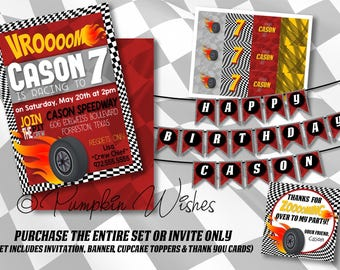 Racecar Birthday Party/Racing Party Printables/Racecar Birthday Party/DIY Racecar Party/Racecar Party/Checker Flag Party