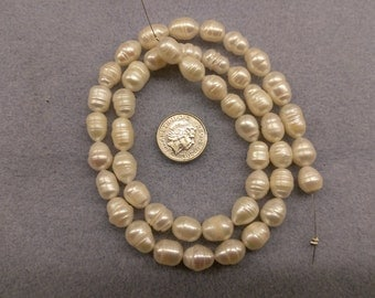 Fresh water white potato pearls 8mm beads semi precious