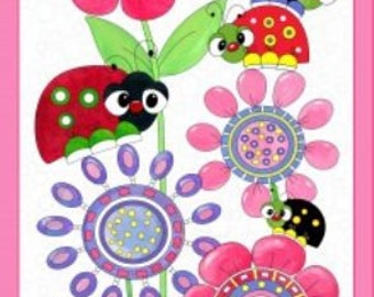 Quilting Treasures - Lazy Lady Bug Panel