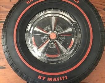 12 Car Mattel Hot Wheels 1967 Toy Carrier Tire Vintage
