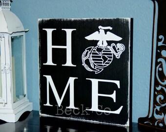 "Marine Corps ""Home"" Sign"