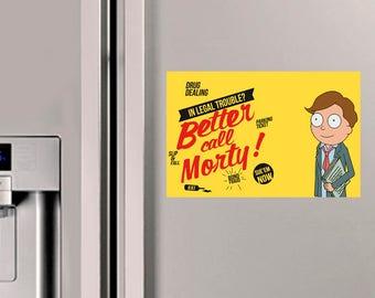 Lawyer Morty Fridge Magnet
