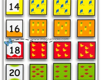 Magnetic number matching set - 13-24