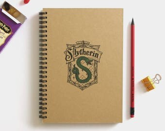 Harry Potter journal | Simple sketchbook | Slytherin journal | Harry Potter world | Harry Potter gift | Slytherin house | Hogwarts | A5