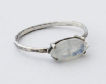 Sideways Marquise Ring