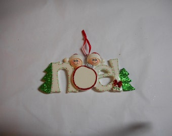 Noel family of 2 Personalized Ornament