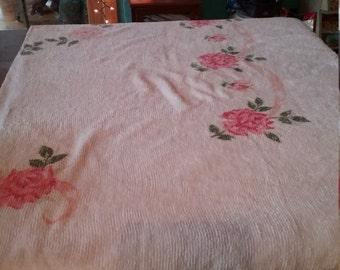Vintage Chenille double bedspread