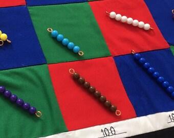 Montessori checkerboard mat