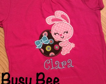 Appliqued Easter Bunny and Egg Shirt or Onesie