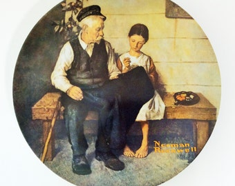 Vintage 1979 Norman Rockwell Commemorative Plate, The Lighthouse Keeper's Daughter, Limited Edition and Numbered