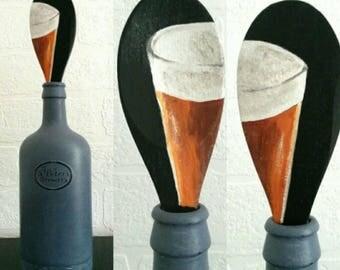 Bottle, beer bottle, decorative bottle