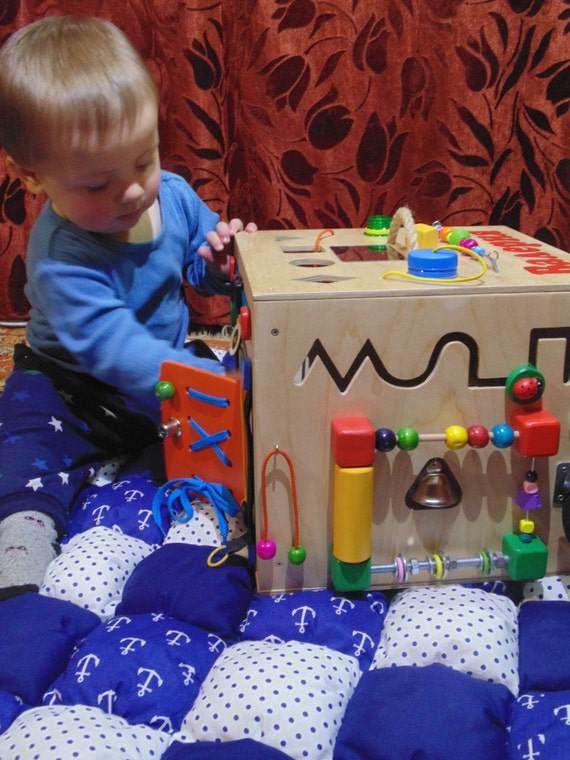 Personalized Baby Gifts Toy Box : Personalized busy board box activity sensory