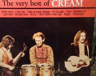 "Cream- ""The Very Best of Cream"", 33 rpm 12"" Classic rock music, Greatest hits record, Eric Clapton, ""Sunshine of Your Love"", ""Crossroads"""