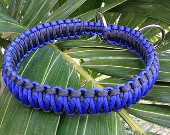 Thin Blue Line Paracord Slip Dog Collar, Police Paracord Slip Collar, Police Slip Collar, Police, K9 Slip Collar, Slip Collar, Dog Collar