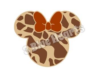 Giraffe Minnie Head SVG dxf Studio