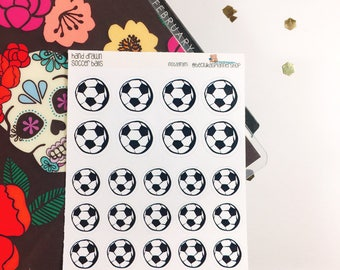 Hand drawn - Soccer ball Stickers