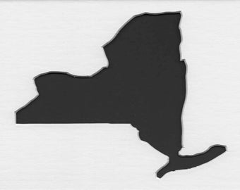 Pack of 3 New York State Stencils Made From 4 Ply Mat Board 11x14, 8x10 and 5x7
