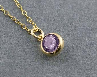 Amethyst Charm, Amethyst Pendant, Amethyst Necklace