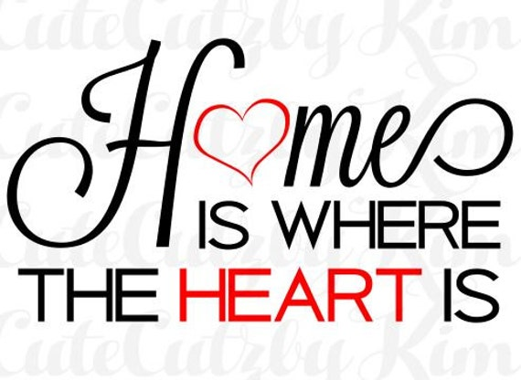 Home Is Where The Heart Is, Svg, Dxf, Png, Jpg, Cutting