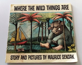 Vintage 1963 Where the Wild Things Are Scholastic Ed Paperback Book by Maurice Sendak