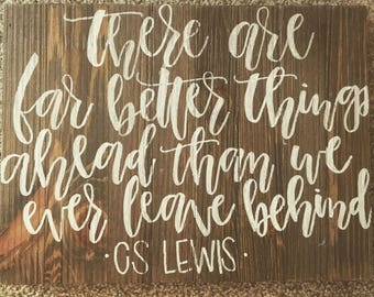CSLEWIS Quote Wood Panel