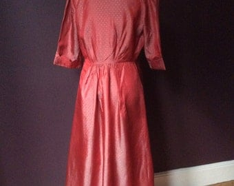 Late 1940/50's Red Taffeta Dress