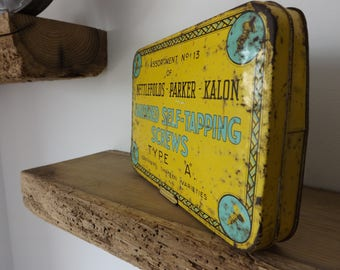 Vintage Nettlefolds Parker Kalon self tapping screws tin