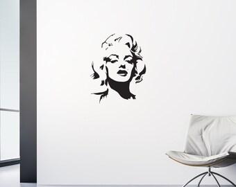 Marilyn Monroe Decal - Marilyn Monroe Wall Art / Marilyn Monroe Decor / Art
