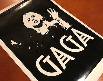 Lady Gaga Sticker / Vinyl Decal - Lady Gaga Art / Music Poster - American Horror Story