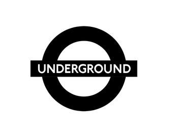 Underground Decal, London Tube, Subway Art, London Underground, Subway Poster