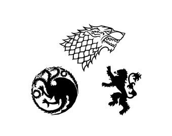 Game of Thrones Decal Set - Stark / Targaryen / Lannister / House / Sigils