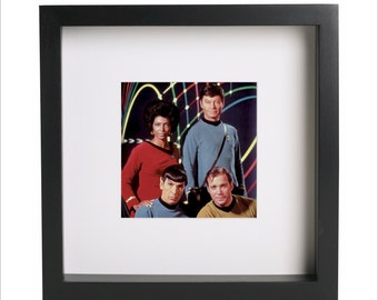 Star Trek movie cast William Shatner Leonard Nimoy photo print | Use in IKEA Ribba frame | Looks great framed for gift | Free Shipping | #1