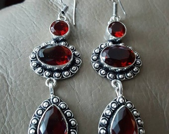 Garnet Quartz Earrings!
