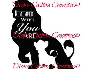 Lion King Remember who you are svg jpg dxf digital file combo cricut and silhouette