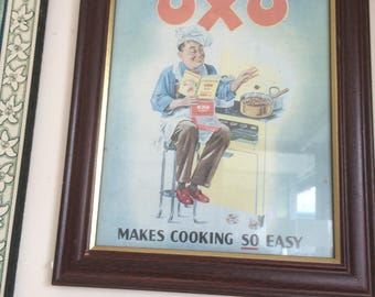Framed reproduction of an Oxo advert 69