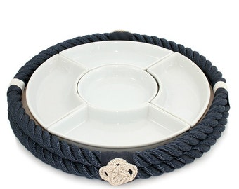 Nautical style hors d'oeuvre tray