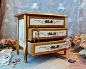 Vintage Wood Jewelry Box Treasure Chest Keepsake Storage Jewel Container Miniature Desk Drawers Trinket Boxes Bijoux Shabby Chic Decor