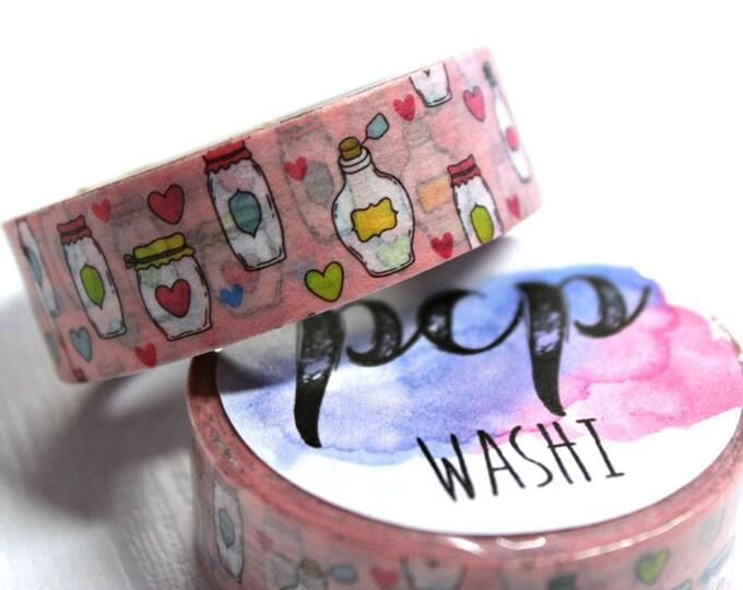 Washi Tape - Cute Jar Washi Tape - Tropical Washi Tape - Paper Tape - Planner Washi Tape - Washi - Decorative Tape - Deco Paper Tape