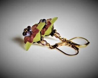 Colorful Spring Flower Earrings