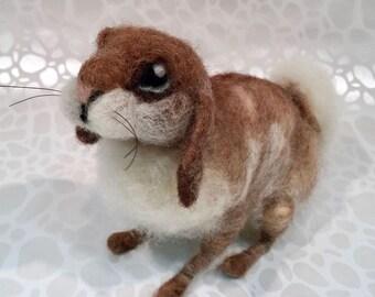 Needle felted rabbit, needle felted bunny, wool rabbit, wool bunny, Easter bunny, Easter rabbit, spring rabbit, spring bunny, Waldorf style