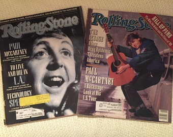 Paul McCartney 2 Rolling Stone Magazines
