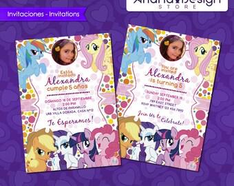 My Little Pony Printable Invitations with photo!
