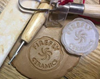 Ceramics Studio, Pottery Stamp, Ceramics Stamp, Made in your Studio, My Ceramics, My Pottery