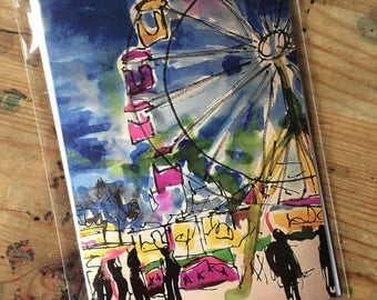 Ferris Wheel Birthday Friendship blank Card