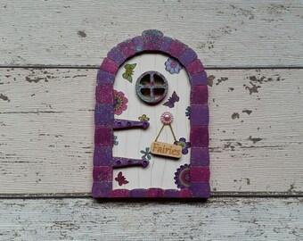 Fairy Door Elf Fairy Ava-Mae Purple Butterfly Large door