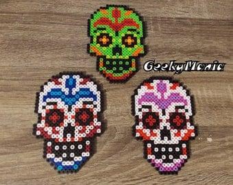 Sugar Skull Perler Beads
