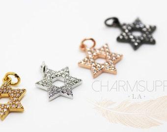 Star of David CZ Charm/ Pendant MP26-028